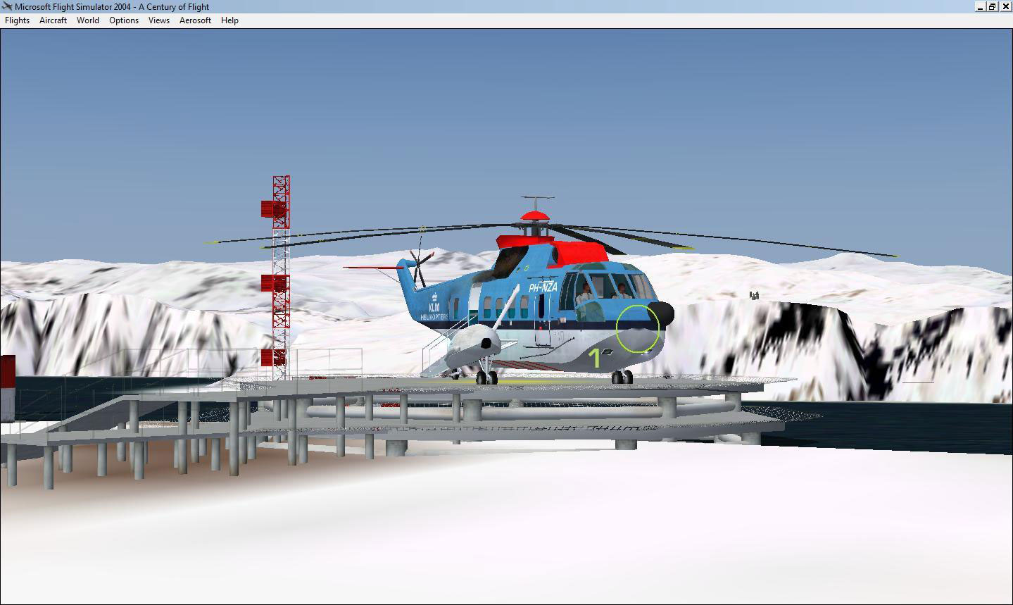 Elicottero S 61 : Klm s noordzee helicopter for fsx