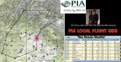 PIA Internal Shuttle Flight 559 Mission.
