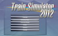 Train Simulator 2012 main menu.
