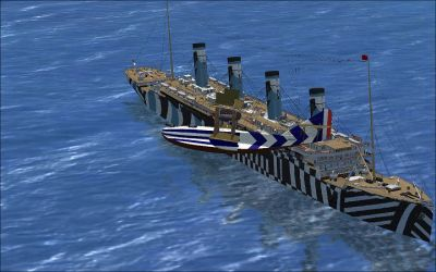 RMS Olympic AI Ship.