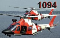 Two US Coast Guard Agusta Westland in flight.