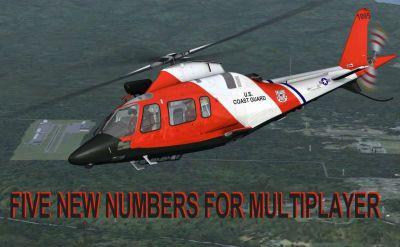 US Coast Guard Agusta Westland in flight.