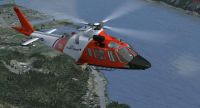 USCG Agusta 109 in flight.
