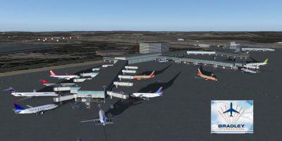 Bradley International Airport Scenery.