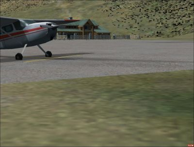 Courchevel Airport Scenery.