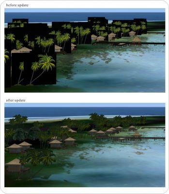 French Polynesia Tuamotu Scenery.