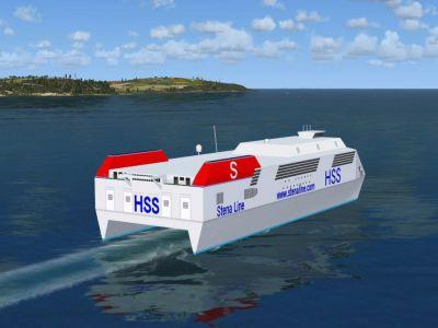 Irish Sea Ferries Scenery.