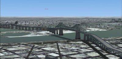 Montreal Ponts de la Rive-Sud Scenery.