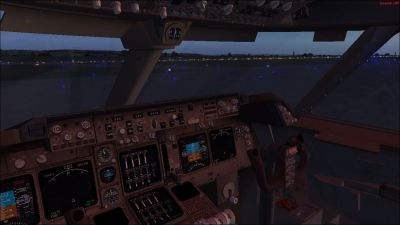 POSKY Boeing 747-400 Virtual Cockpit.