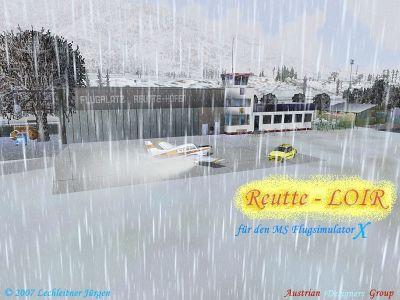Reutte Airport Scenery.
