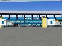 Tallinn Airport Scenery.