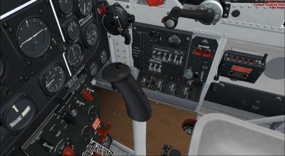 The 3D Virtual cockpit of the P-51D.