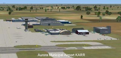 Aurora Municipal Airport Scenery.