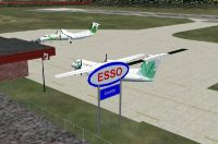 Castlegar Airport Scenery Update.