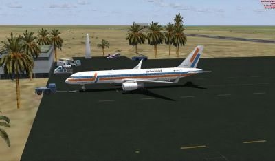 Flamingo Airport Scenery.