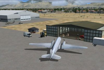 Four Corners Regional Airport Scenery.