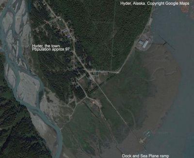 Hyder Seabase Alaska Scenery.