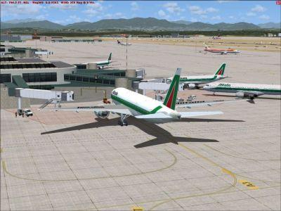 Milan Malpensa Airport Scenery.