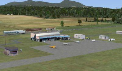 Nanaimo-Collishaw Airport Scenery.