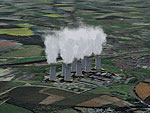 Northern England Power Stations Scenery.