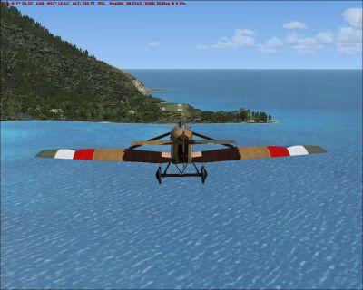 Saba Island Scenery.