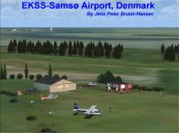 Samso Airport VFR Photo Scenery.