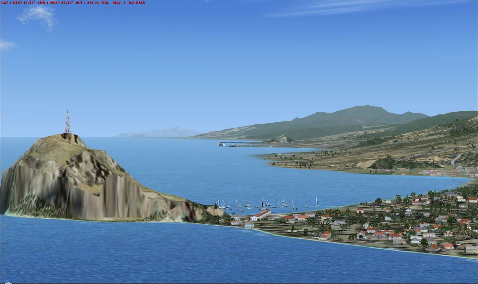 Scenery Of Dominica Island For FSX