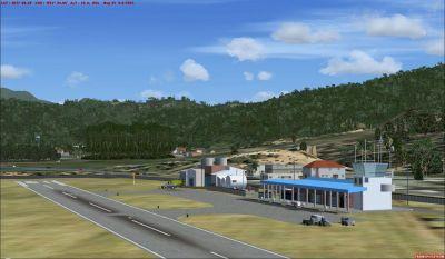 Scenery Of Dominica Island.
