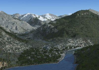Wilson Lake And River Alaska Scenery.