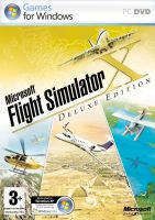Microsoft Flight Simulator X Deluxe Edition box artwork.