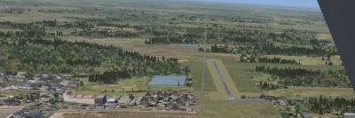 Screenshot of Sublette Flying Club Scenery during the day.