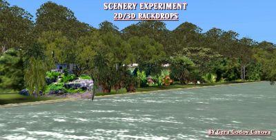 Screenshot of 3D/2D Scenery.