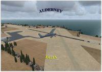 Alderney Airport Scenery.