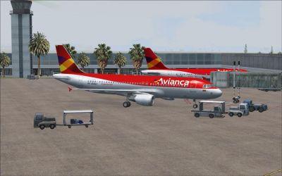 Alfonso Bonilla Aragon International Airport Scenery.