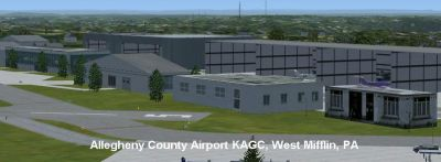 Screenshot of Allegheny County Airport.