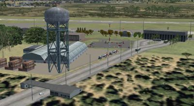 Almonacid Military Airport Scenery.