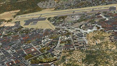 Aerial view of Arturo Michelena International Airport.