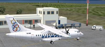 Astypalaia Airport Scenery.