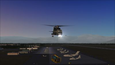 Screenshot of singleload flight.