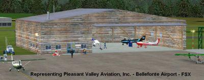 Screenshot of Bellefonte Airport Scenery.
