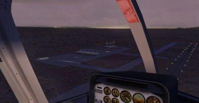 Screenshot of Benson Municipal Airport Scenery at night.
