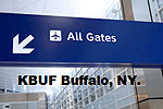 Sign pointing to all gates at Buffalo Niagra International.