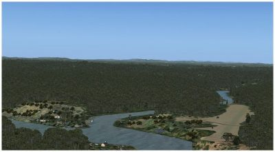 Screenshot of Camopi Airport Scenery.