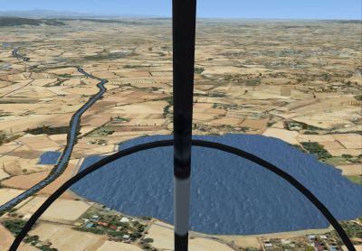 Flying over Canal du Midi.