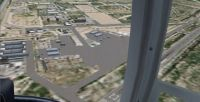 Day time aerial view of Casa Grande Municipal Airport.