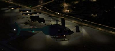Screenshot of Cherokee County Regional Airport Scenery at night.