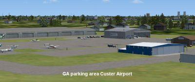 Custer Airport Scenery.