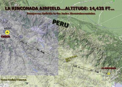 La Rinconada route map.