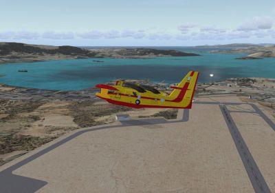 Eleusis Airport Scenery.