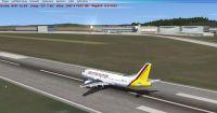 Screenshot of plane on runway at Ensheim Airport.